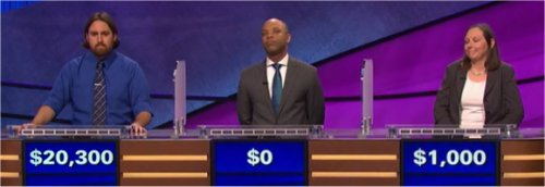 Final Jeopardy (7/25/2017) Justin Vossler, Mackenzie Brooks, Catherine Meeker