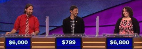 Final Jeopardy (7/27/2017) Justin Vossler, Ryan Kious, Shadi Peterman