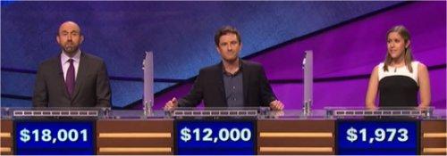 Final Jeopardy (7/5/2017) Jon Eisenman, Chloë Zung, Sebastian Davis