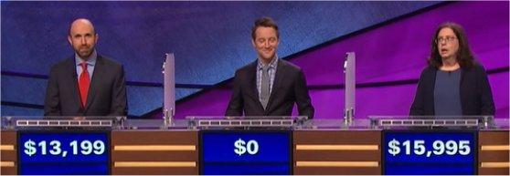 Final Jeopardy (7/7/2017) Jon Eisenman, Josh Hamilton and Susan Corica