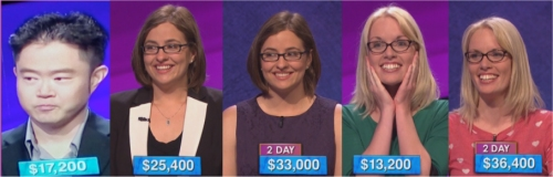 Jeopardy champ, Season 32, Week 1
