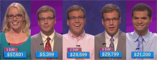 Jeopardy Champs: September 21-25, 2015