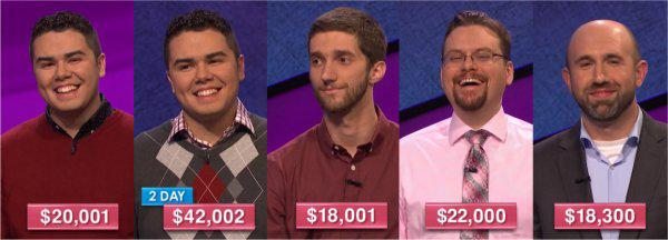 Jeopardy! champs for the week of June 26, 2017
