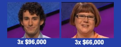 Jeopardy champs, S31 Week of 3-30-15