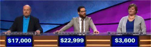 Final Jeopardy (2/13/2018) Marty Cunningham, Frank Lang, Emily Deckenback