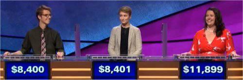Final Jeopardy (2/2/2018) Ryan Fenster, Caitlin Silberman, Jenny Rhodes