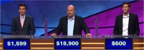 Final Jeopardy (2/8/2018) John Giambrone, Marty Cunningham, Alex Hotovy