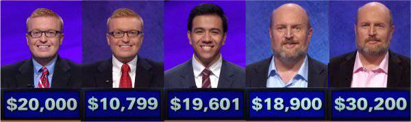 Jeopardy! champs for the week of February 5, 2018