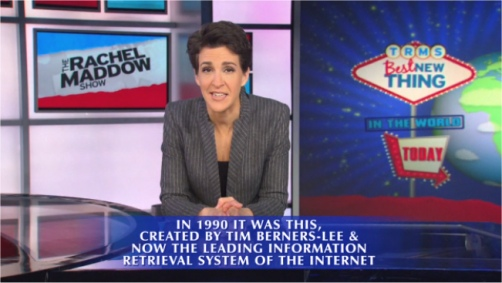 Rachel Maddow presents the Best New Thing in the World on Jeopardy!