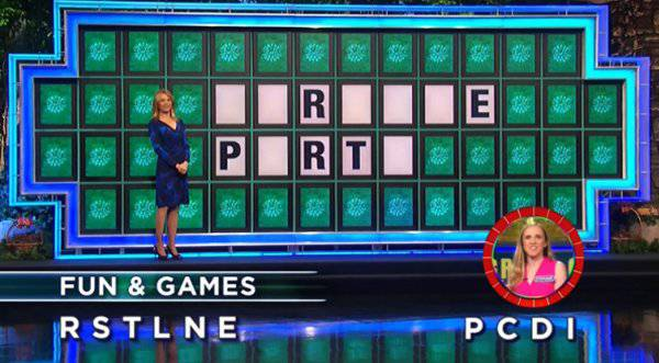 Stephanie Weyant on Wheel of Fortune (11-30-2017)
