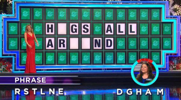 Kim Wells on Wheel of Fortune (12-07-2017)