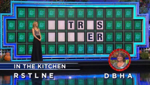 Kim Knotts on Wheel of Fortune (9-29-2017)