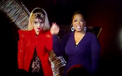 Oprah Winfrey and the Gaga Lady