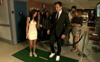 Selena Gomez and Jimmy Fallon