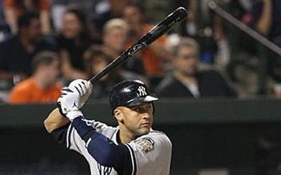 Derek Jeter at bat