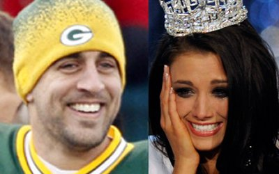 Miss America and Aaron Rodgers