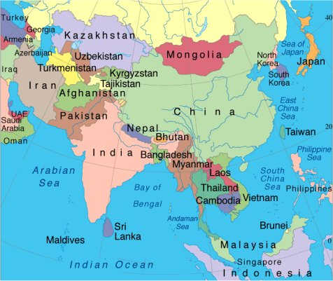 East Asia Map on Europe Map Fill In The Blank