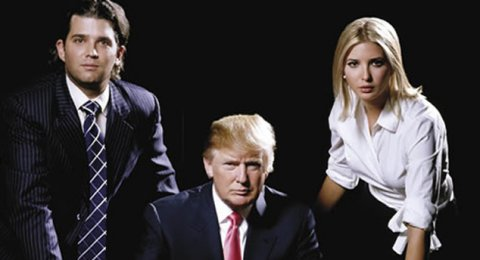 Donald Trump and his kids on Celebrity Apprentice