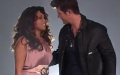 Alexis Foster and Robin Thicke