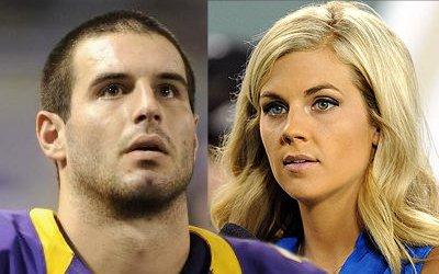 Christian Ponder and Samantha Steele