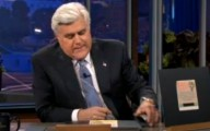 Jay Leno reads the headlines