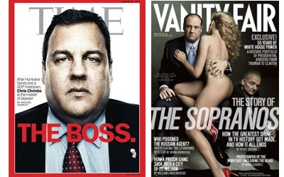 Chris Christie (Time), Tony Soprano (Vanity Fair)