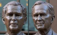 Bush Father and Son Bronze Statues