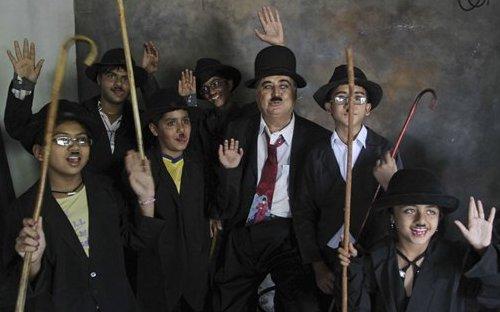 Adipur Parade Marks Chaplin Birthday