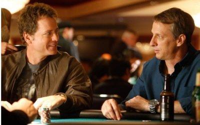 Greg Kinnear and Tony Hawk