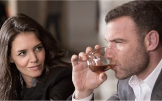 Paige Finney and Ray Donovan