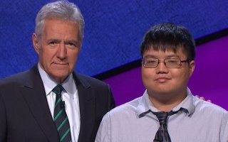 Alex Trebek and Arthur Chu