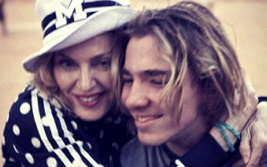 Madonna and son, Rocco
