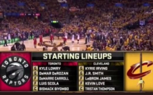 Cavaliers vs. Raptors